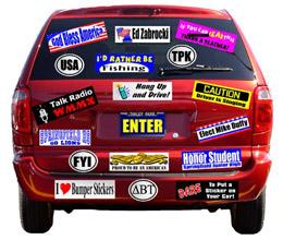 Werbe Auto Aufkleber